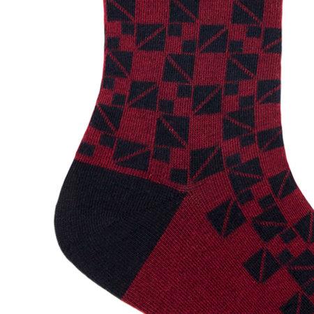 Sokken Heren Spox Mosaic Burgundy