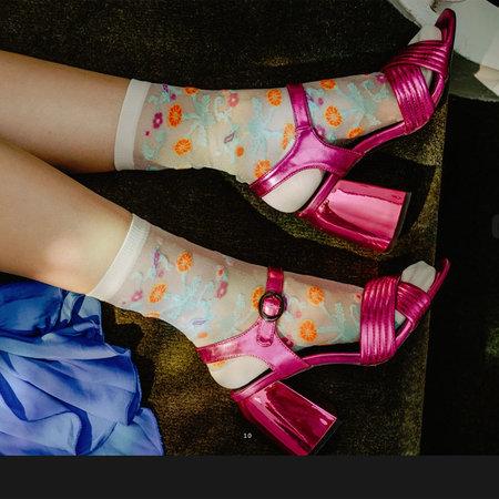 Sokken Dames Augusta in Cream Tan