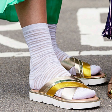 Sokken Dames Nicole in Zilver