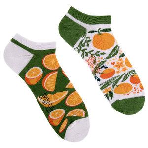 Mismatched Sneaker Sokken Orange