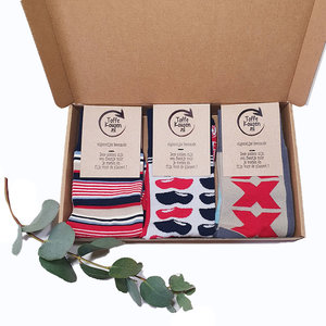 Box 3 paar Mismatched Bamboe Sokken Holland