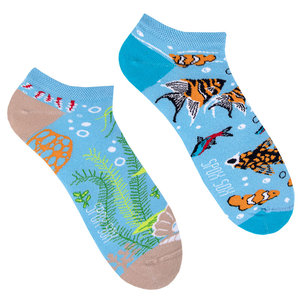 Mismatched Sneaker Sokken Aquarium