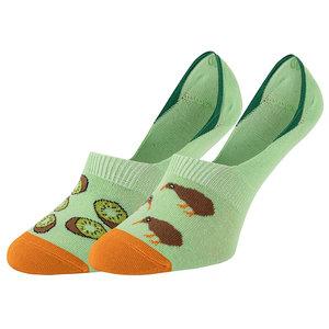 Mismatched No Show Sneaker Sokken Kiwi