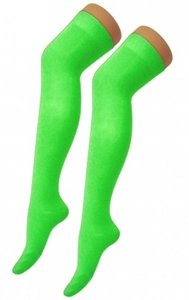 Kousen Overknee Uni Neon Groen