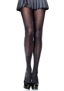 Panty Luxe Lurex Zwart met Zilver